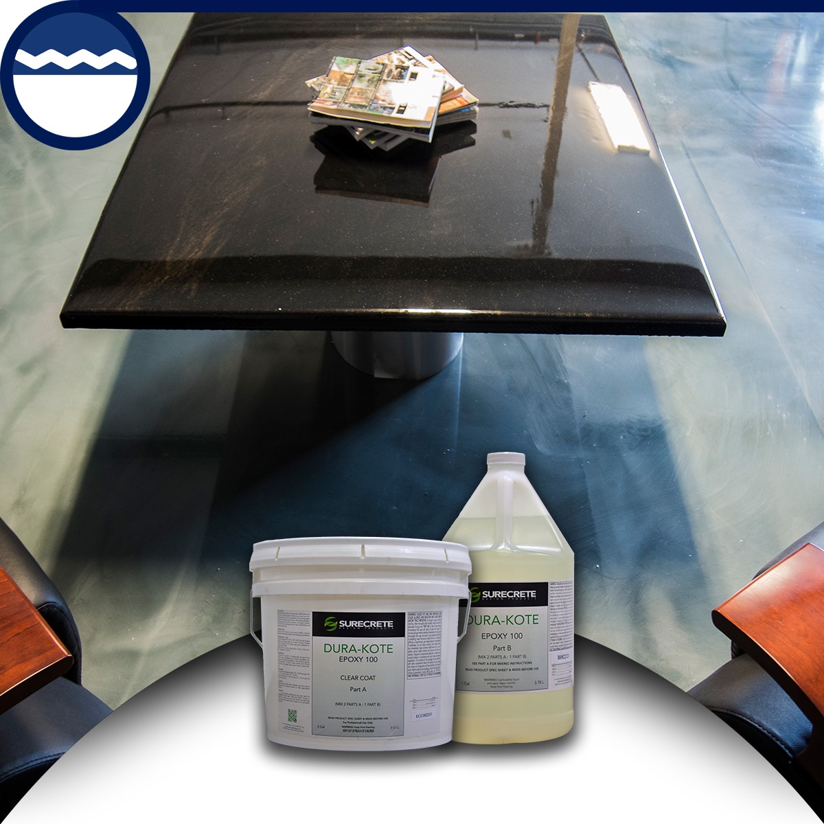 Floor clear epoxy 100 solids bdc supply company for 100 solids epoxy floor paint