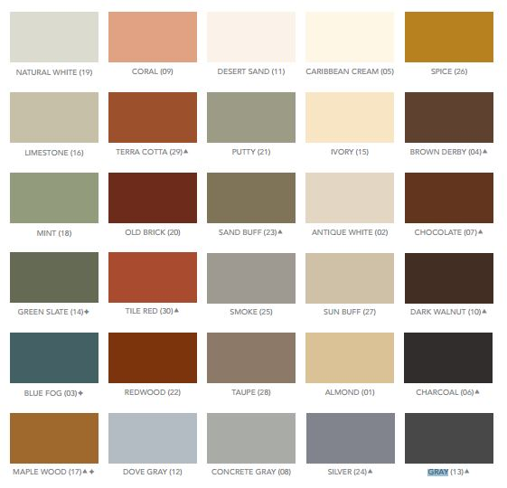 Color Chart Colored Concrete Floor Epoxy 100%
