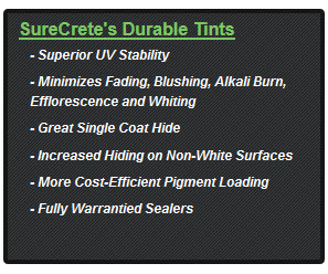 Custom Concrete Color Sealer